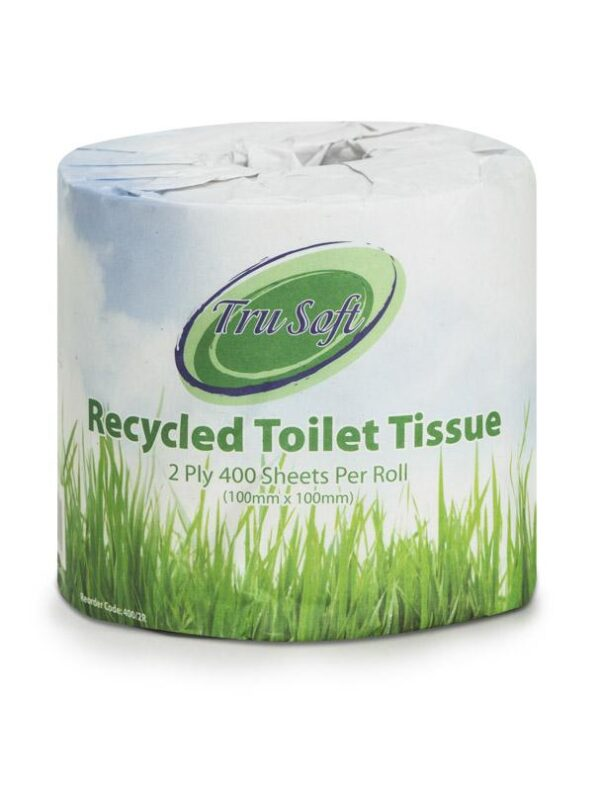 Trusoft Toilet Roll Recycled 2 Ply 400 Sheet 48 Rolls