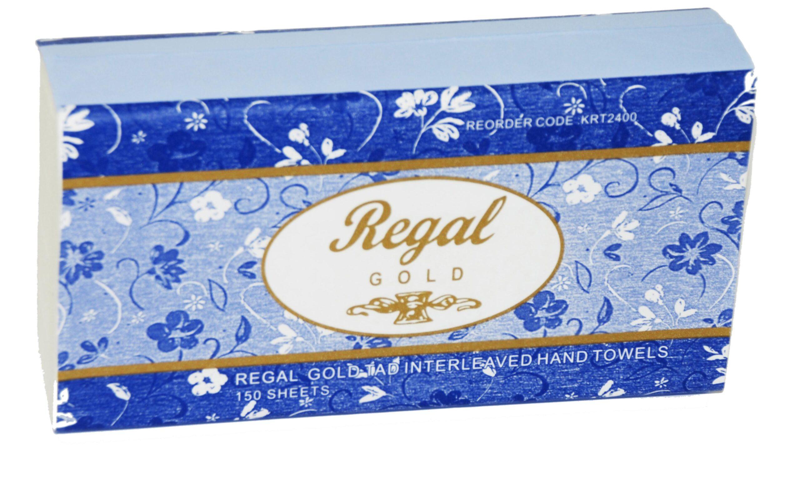 Regal Gold Tad Interleaved Hand Towel 150 Sheet X 16 Packs