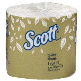 Scott 5742 Toilet Tissue 2 ply white 600 sheets/roll carton 24